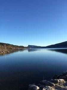 Tour du lac de Joux en courant